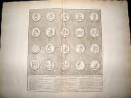Bartoli 1690 LG Folio Roman Architectural Print. Relief 15