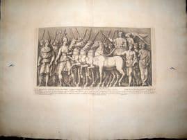 Bartoli 1690 LG Folio Roman Architectural Print. Relief 4