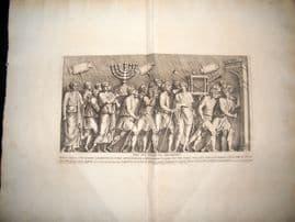Bartoli 1690 LG Folio Roman Architectural Print. Relief 5