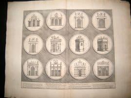 Bartoli 1690 LG Folio Roman Architectural Print. Relief 52