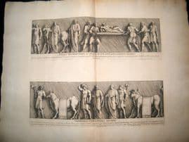 Bartoli 1690 LG Folio Roman Architectural Print. Relief 6