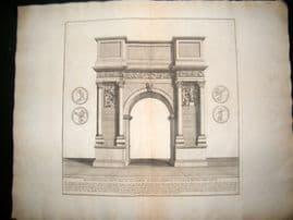Bartoli 1690 LG Folio Roman Architectural Print. Triumphal Arch 48