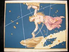 Bayer Uranometria 1661 Folio Hand Col Celestial Map. Andromeda 20
