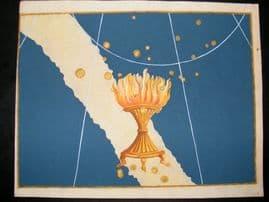 Bayer Uranometria 1661 Folio Hand Col Celestial Map. Ara 46