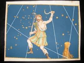 Bayer Uranometria 1661 Folio Hand Col Celestial Map. Bootes 5