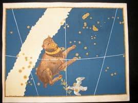 Bayer Uranometria 1661 Folio Hand Col Celestial Map. Canis Major 38