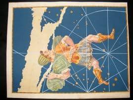 Bayer Uranometria 1661 Folio Hand Col Celestial Map. Cepheus 4