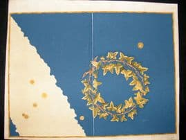Bayer Uranometria 1661 Folio Hand Col Celestial Map. Corona Meridionalis 47