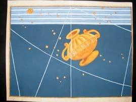 Bayer Uranometria 1661 Folio Hand Col Celestial Map. Crater 42