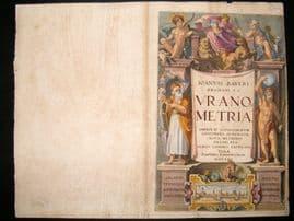 Bayer Uranometria 1661 Folio Hand Col Celestial Map. Engraved Title Page