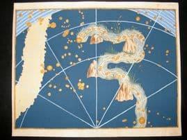 Bayer Uranometria 1661 Folio Hand Col Celestial Map. Eridanus 36