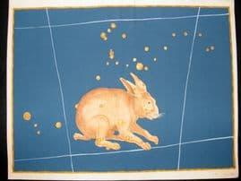 Bayer Uranometria 1661 Folio Hand Col Celestial Map. Lepus 37 Rabbit