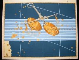 Bayer Uranometria 1661 Folio Hand Col Celestial Map. Libra 28 Astrology