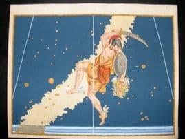 Bayer Uranometria 1661 Folio Hand Col Celestial Map. Perseus 11