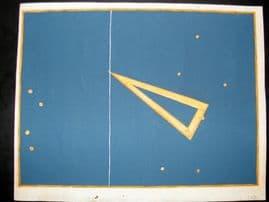 Bayer Uranometria 1661 Folio Hand Col Celestial Map. Triangulum 21
