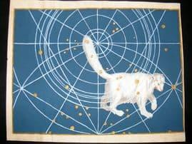 Bayer Uranometria 1661 Folio Hand Col Celestial Map. Ursa Minor 1