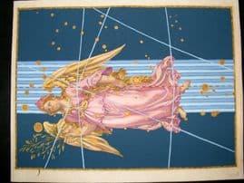 Bayer Uranometria 1661 Folio Hand Col Celestial Map. Virgo 27