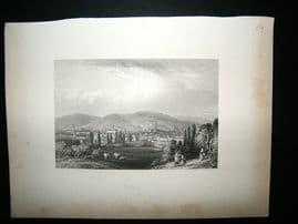 Belgium: 1847 Steel Engraving, Verviers Antique Print