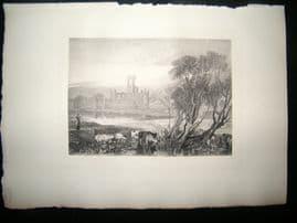 Boussod & Valadon 1885 Photogravure. Kirkstall Abbey