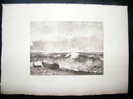 Boussod & Valadon after Courbert 1885 Photogravure. The Wave