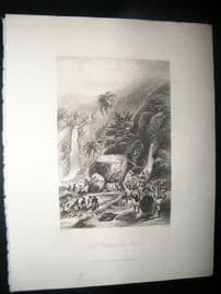 Brazil 1847 Antique Print. Gold Washing in the Brazils