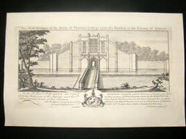 Buck 1726 Folio Architecture Print. Thornton College near the Humber, Lincoln