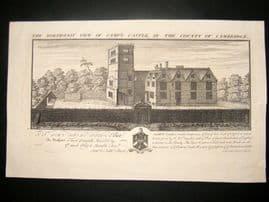 Buck 1730 Folio Architecture Print. Camp's Castle, Cambridge
