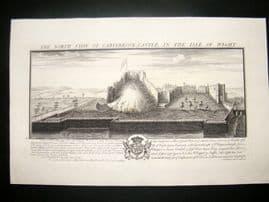 Buck 1733 Folio Architecture Print. Carisbrook Castle, Isle of Wight
