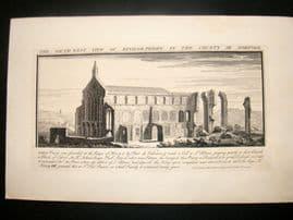 Buck 1738 Folio Architecture Print. Binham Priory, Norfolk