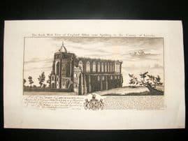 Buck 1774 Folio Architecture Print. Croyland Abbey, Lincoln