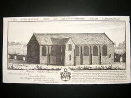 Buck C1820 Folio Architecture Print. Denny Priory, Near Cambridge