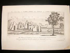 Buck C1820 Folio Architecture Print. Easby Abbey, near Richmond, Yorkshire