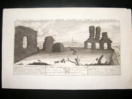Buck C1820 Folio Architecture Print. Sandal Castle & Wakefield, Yorkshire