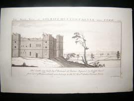 Buck C1820 Folio Architecture Print. Sheriff Hutton Castle, York