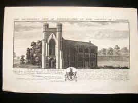 Buck C1820 Folio Architecture Print. Thornby Abbey, Cambridge