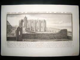 Buck C1820 Folio Architecture Print. Winchelsea Monastery, Sussex