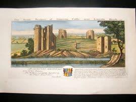 Buck C1820 Folio Hand Col Architecture Print. Somerton Castle, Lincoln Heath
