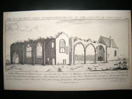 Buck C1878 Folio Architecture Print. Birkenhead Priory, Chester