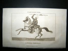 Burma 1818 Antique Print. Birman Horseman