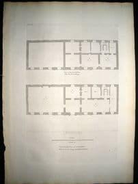 Campbell Vitruvius Britannicus C1720 Architectural Plan. Cobham Halll, Kent