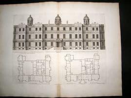 Campbell Vitruvius Britannicus C1720 LG Architectural Print. Longleat, Wiltshire