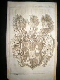 Cavendish 1700 Nouvelle Methode pour dresser les Chevaux Title Page & Heraldy