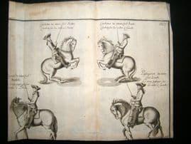 Cavendish Equestrian Dressage 1700 Antique Copper Plate.