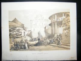 China Perry Expedition 1856 Antique Print. Jesuit Convent, Macao