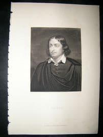 Claude C1860 Steel Engraved Portrait Print