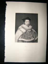 Coke C1860 Steel Engraved Portrait Print