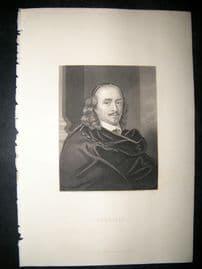Corneille C1860 Steel Engraved Portrait Print