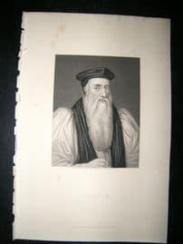 Cranmer C1860 Steel Engraved Portrait Print