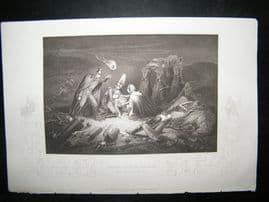 Crimea 1858 Antique Print. Battle Field of the Alma
