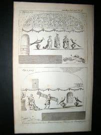 Curious Mausoleum Ornaments at Rheims, France 1786 Print